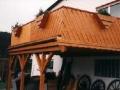 Balkon aus Brettschichtholz