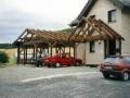 Carport mit angrenzendem Vordach